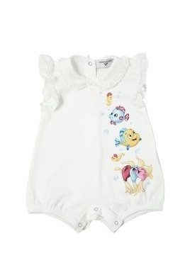 PRINTED COTTON JERSEY BODYSUIT
