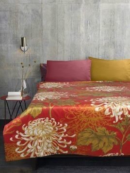 DAHLIA COTTON & SILK BLEND BEDSPREAD