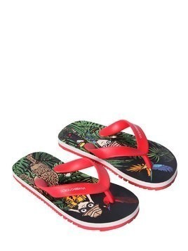SAVANNA PRINTED RUBBER FLIP FLOPS