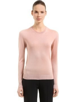 CASHMERE & SILK BLEND KNIT SWEATER