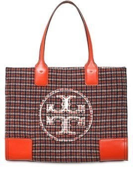 SMALL ELLA PLAID TOTE BAG