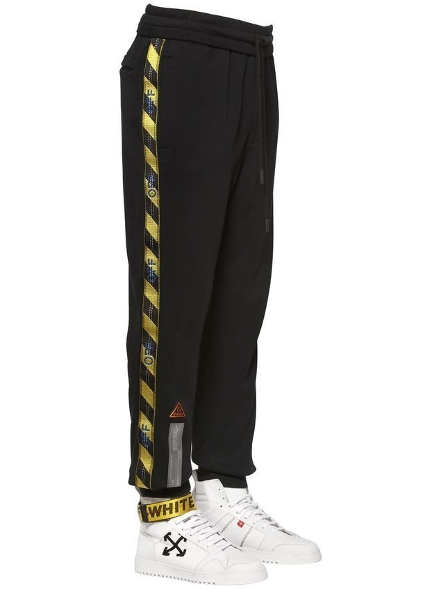 FIRE LINE TAPE COTTON SWEATPANTS