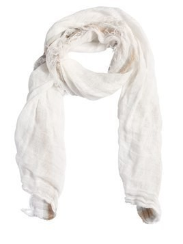 RAW CUT LINEN SCARF