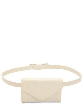 CINTA CROC EMBOSSED LEATHER BELT BAG