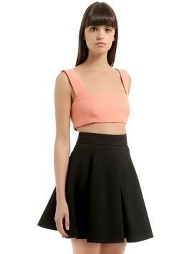 WOOL CREPE CROP TOP