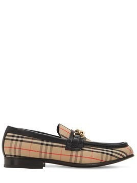 10MM MOORLEY CHECK & LEATHER LOAFERS