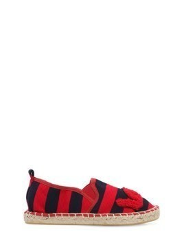 STRIPED OTTOMAN COTTON ESPADRILLES