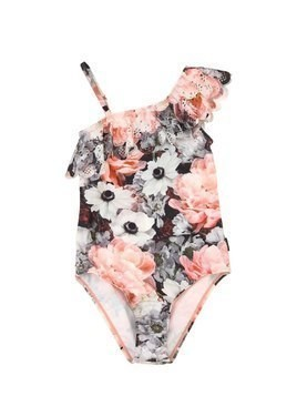 FLORAL PRINT LYCRA ONE PIECE SWIMSUIT