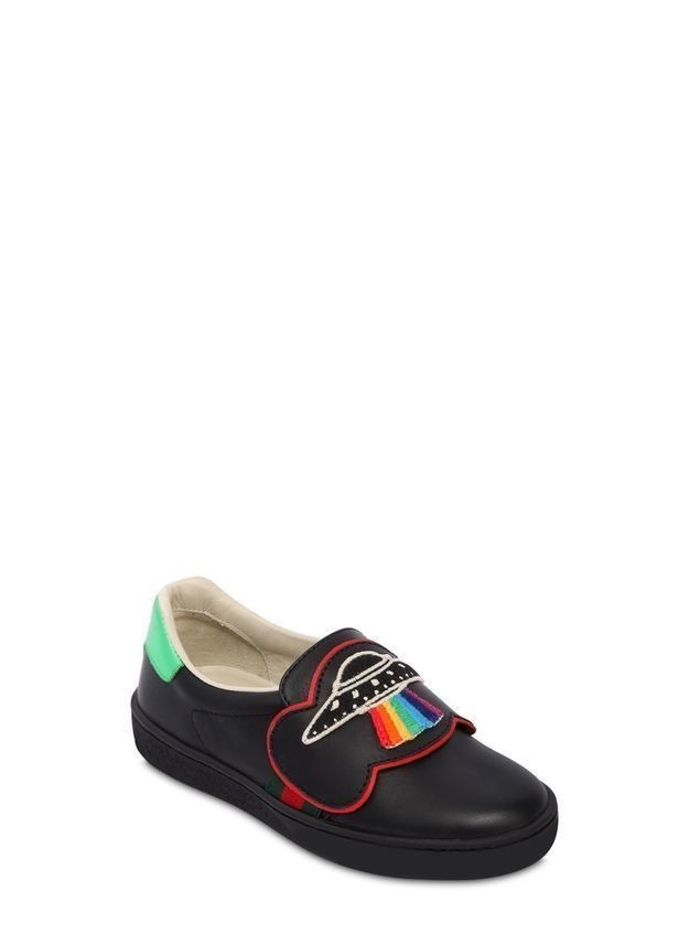 UFO LEATHER SLIP-ON SNEAKERS