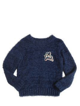 FURRY TRICOT COTTON SWEATER