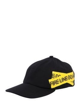 FIRE LINE TAPE CANVAS BASEBALL HAT