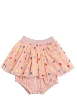 EMBROIDERED STARS TULLE SKIRT W/ DIAPER