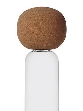 KOKESHI GLASS BOTTLE WITH CORK TOP
