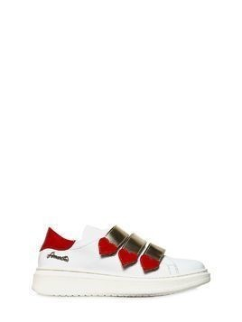 HEARTS NAPPA LEATHER LOW SNEAKERS