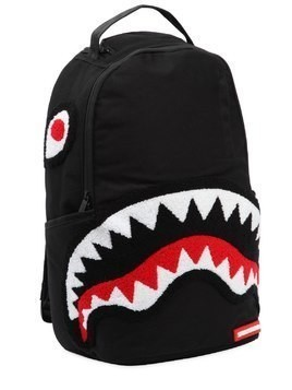 GHOST SHARK PATCHES CANVAS BACKPACK