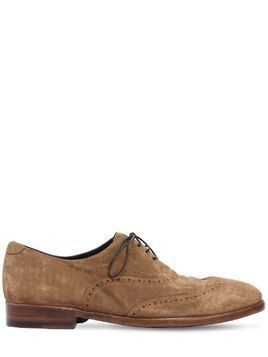 WASHED SUEDE OXFORD LACE-UP SHOES