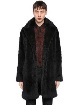 LONG MOHAIR BLEND COAT