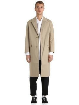 OVERSIZED RUBBERIZED COTTON COAT