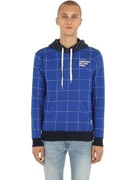 UOTF CORE HOODED CHECK SWEATSHIRT