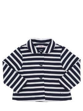 STRIPED COTTON SWEAT JACKET