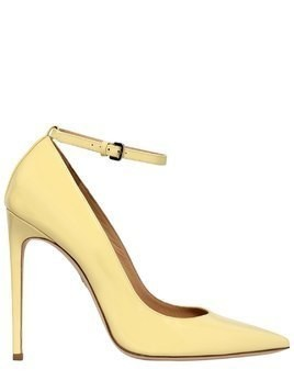 110MM PATENT LEATHER ANKLE STRAP PUMPS