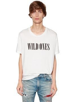 WILD ONES PRINTED COTTON JERSEY T-SHIRT
