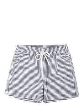 COTTON SEERSUCKER BERMUDA SHORTS