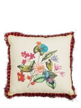 JACARANDA PRINTED COTTON & LINEN PILLOW