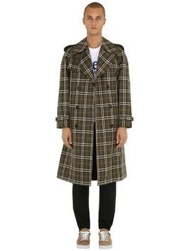 REVERSIBLE PEMBRIDGE CHECK TWILL COAT
