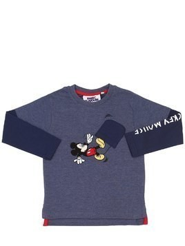 MICKEY MOUSE PRINT COTTON SWEATSHIRT