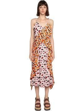 JACKIE FLORAL PRINTED PLISSE CREPE DRESS
