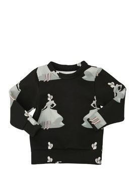 CINDERELLA PRINTED NEOPRENE SWEATER