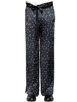 31.5CM POLKA DOT PRINTED SILK PANTS
