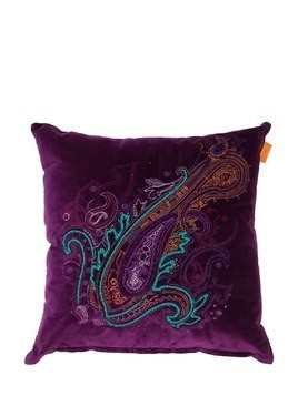 DOCHFOUR EMBROIDERED COTTON BLEND PILLOW