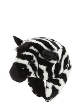 ZEBRA SHAPED PLUSH & FLEECE HAT