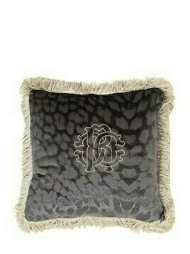 Monogram Velvet Cushion
