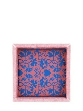 BIRDS SILK DAMASK SQUARE VALET TRAY