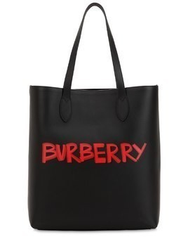 GRAFFITI SMOOTH LEATHER TOTE BAG