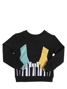 PIANO PATCHES COTTON SWEATSHIRT