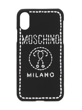 LOGO EMBROIDERED IPHONE X COVER