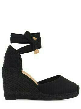 80mm Carina Canvas Espadrille Wedges