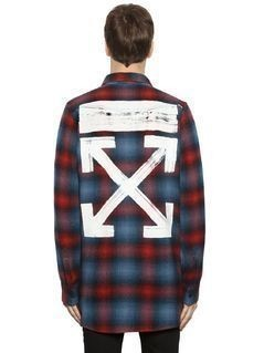 BRUSHED ARROWS PLAID FLANNEL SHIRT