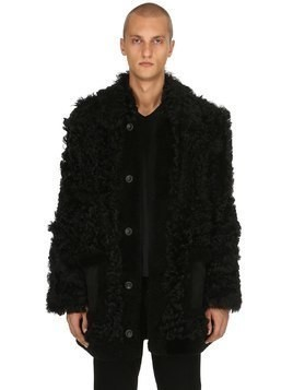 FURRY SHEARLING COAT
