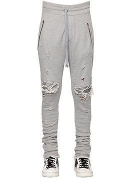 15CM MX1 COTTON SWEATPANTS W/ LEATHER