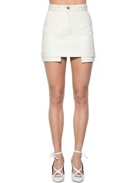POCKETS OUT DENIM COTTON MINI SKIRT