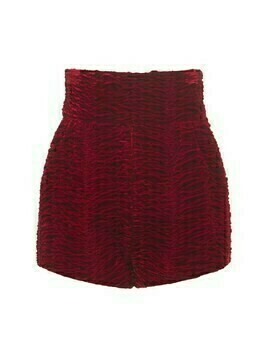 High Waist Viscose & Cupro Velvet Shorts