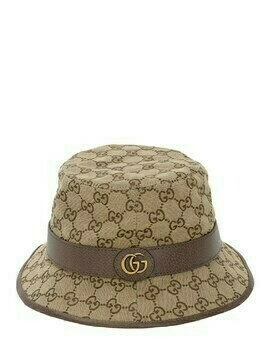 Gg Cotton Canvas Bucket Hat