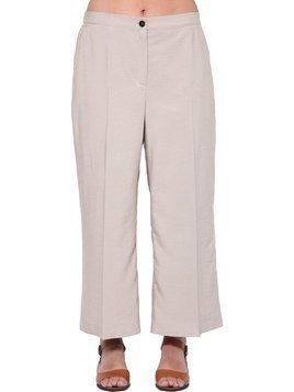 CROPPED VISCOSE TWILL PANTS