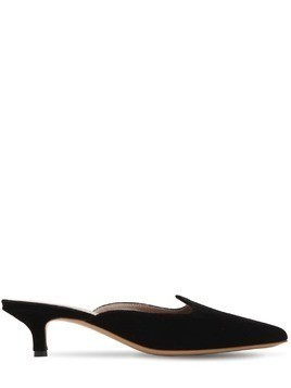 30MM VELVET KITTEN HEEL MULES