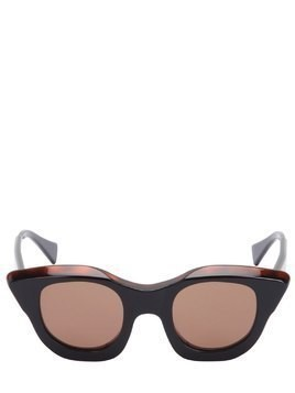 SHINY ACETATE CAT-EYE SUNGLASSES